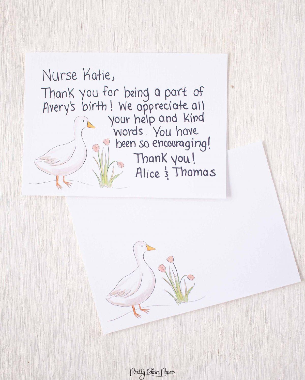 Pretty Plain Paper Sweet Farm Note Card