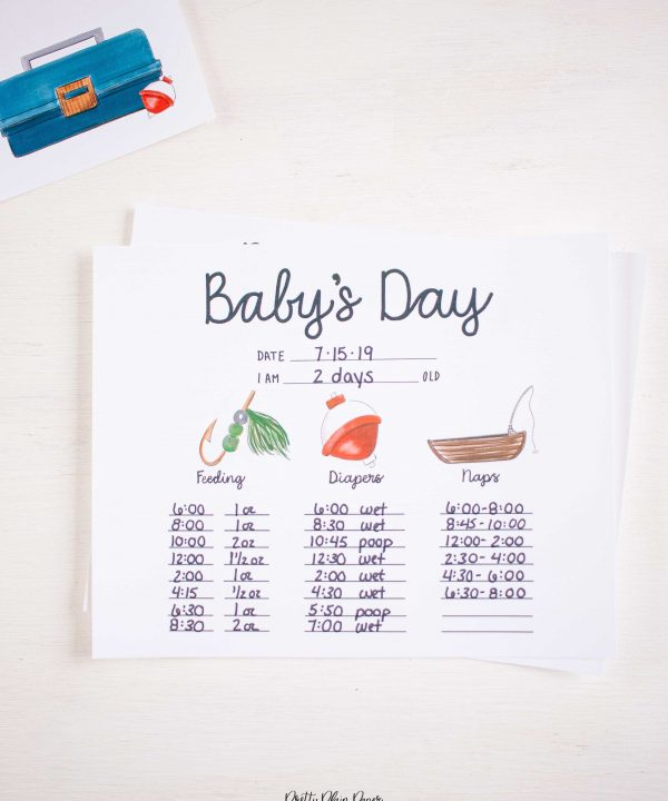 Fishing Baby's First Days Printable