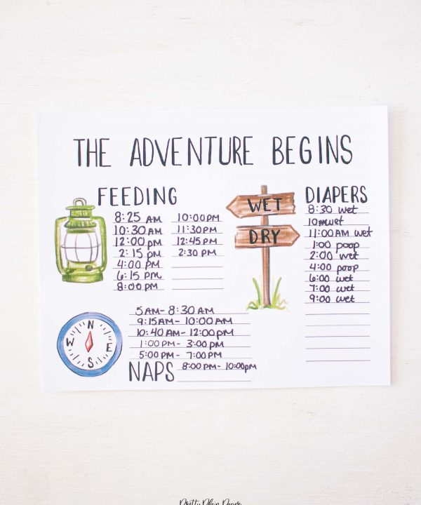 Little Adventurer Baby's First Days Printable