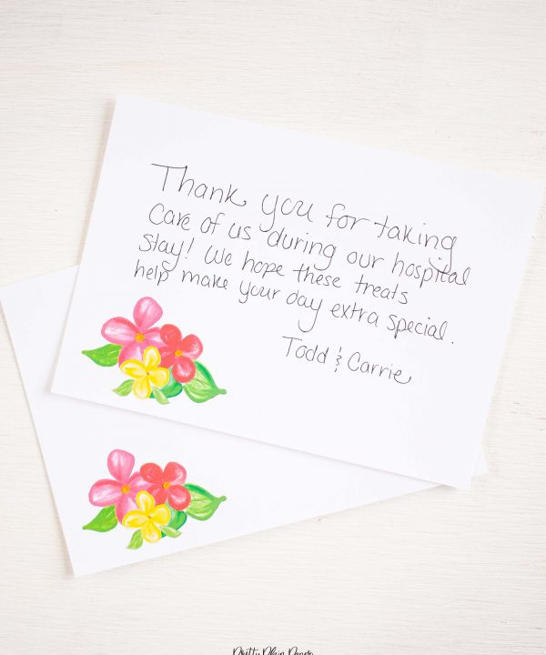 Pretty Plain Paper Rainbow Floral Note Card