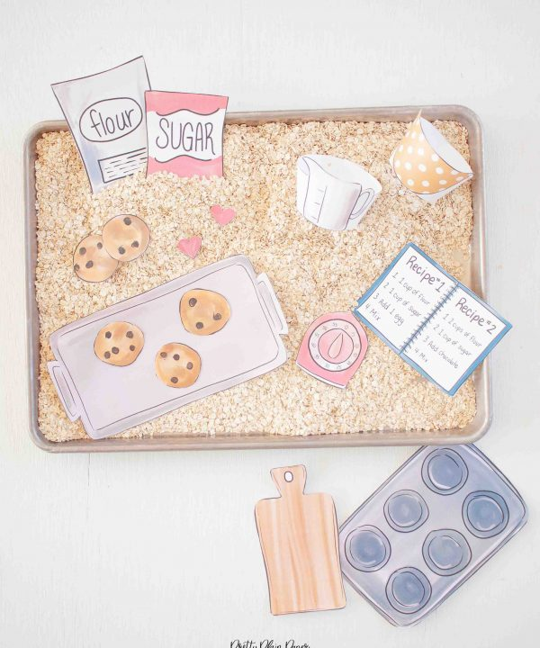 Baking Cookies Sensory Bin Printables by Pretty Plain Paper