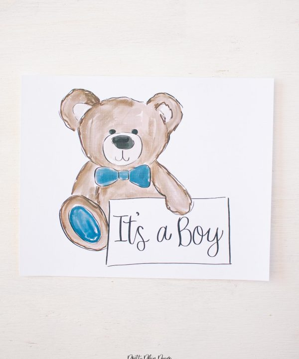 Pretty Plain Paper It's a Boy Welcome Sign
