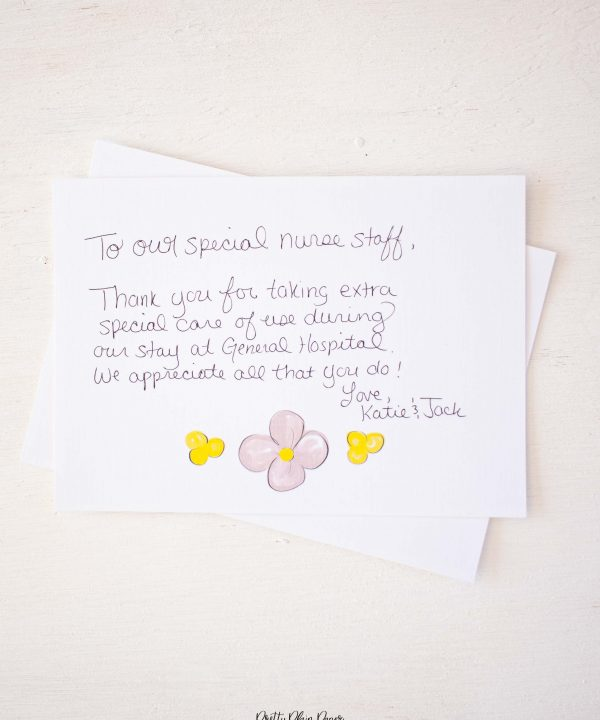 Pretty Plain Paper You Are My Sunshine Note Card