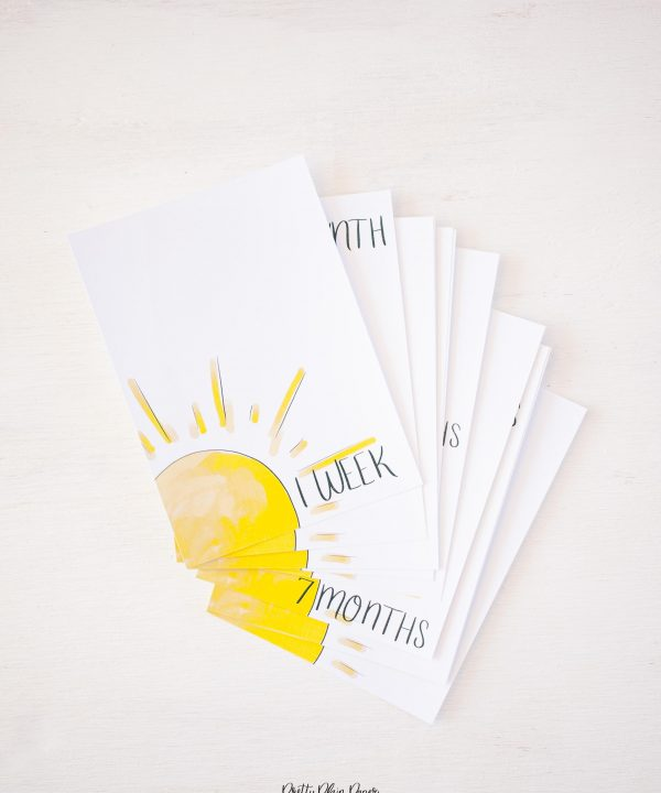 Pretty Plain Paper You Are My Sunshine Monthly Milestone Photo Cards Printables
