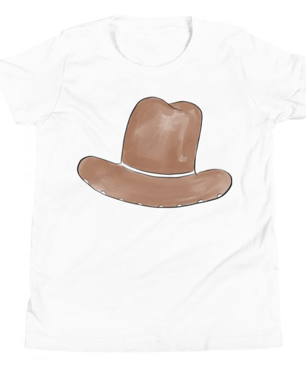 Cow Boy Hat Watercolor T-Shirt by Pretty Plain Paper