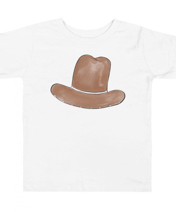 Cow Boy Hat Watercolor T-Shirt by Pretty Plain Paper