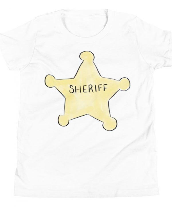 Sheriff Watercolor T-Shirt by Pretty Plain Paper