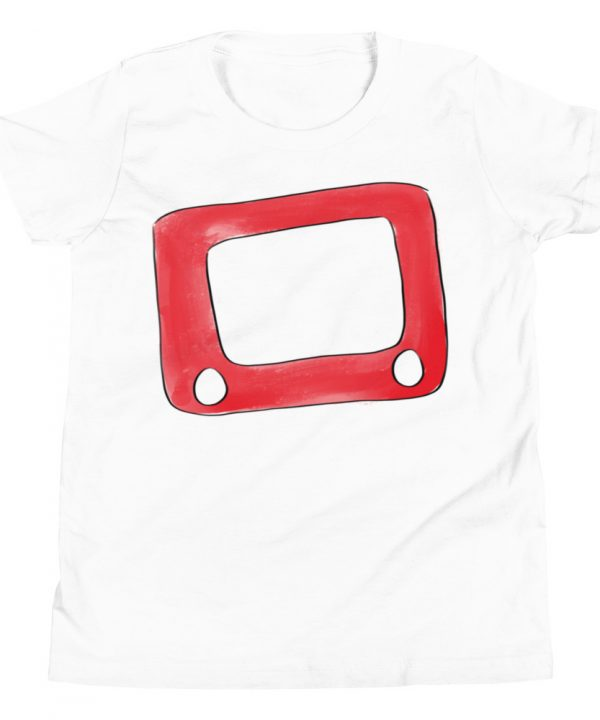Etch A Sketch Watercolor T-Shirt by Pretty Plain Paper