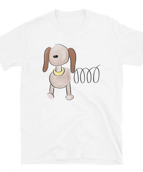 Dog Watercolor T-Shirt by Pretty Plain Paper