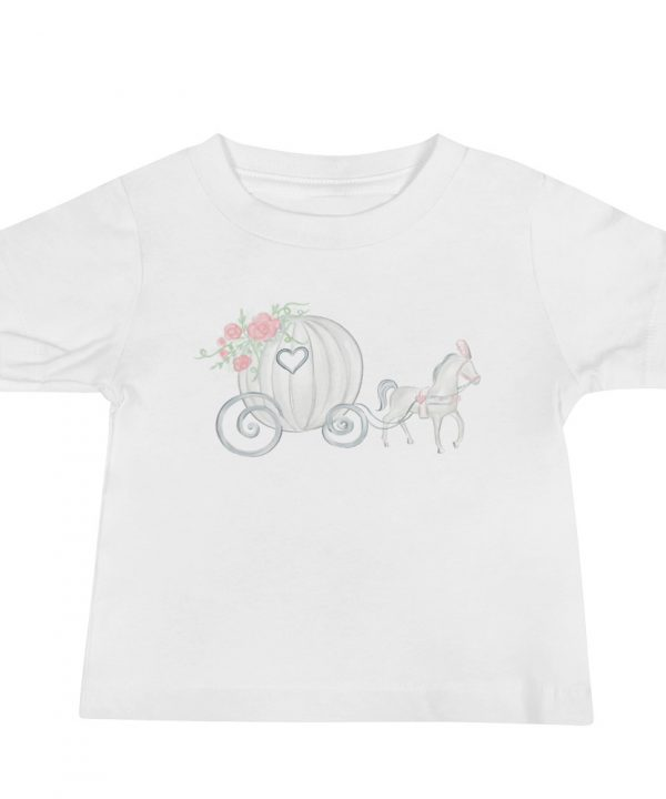 Princess Carriage Watercolor T-Shirt by Pretty Plain Paper