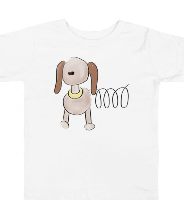 Dog Watercolor T-Shirt by Pretty Plain Paper