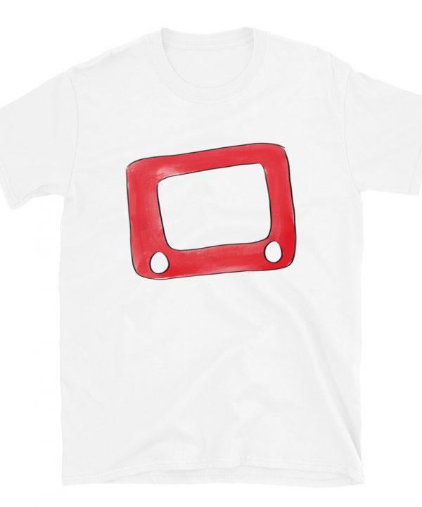 Etch A Sketch Watercolor T-Shirt by Pretty Plain Paper
