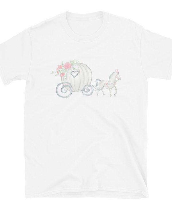 Princess Carriage Watercolor T-Shirt by Pretty Plain Paper