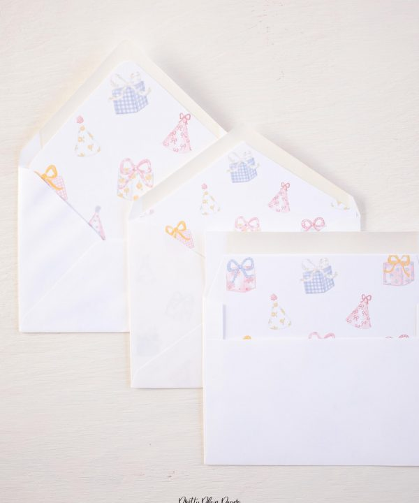 It's My Birthday Party A7 Envelope Liner by Pretty Plain Paper