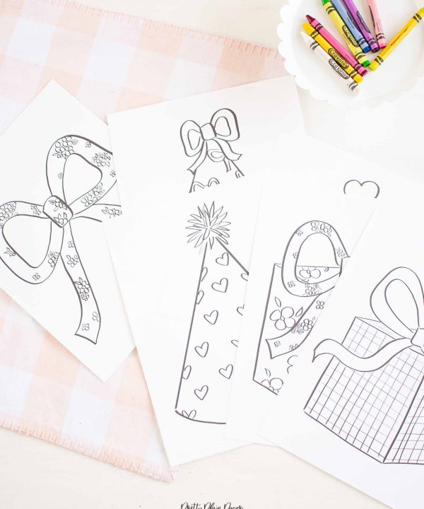 It's My Birthday Party Coloring Sheets by Pretty Plain Paper