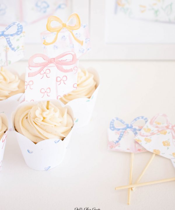 It's My Birthday Party Cupcake Toppers by Pretty Plain Paper