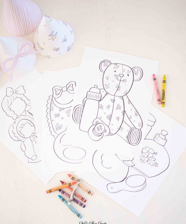 Baby Doll Birthday Printable Coloring Pages by Pretty Plain Paper