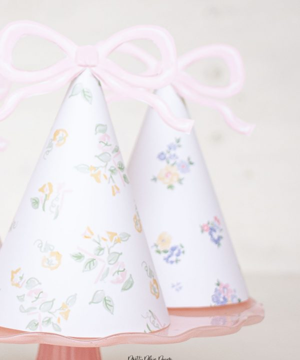 Baby Doll Birthday Printable Party Hats by Pretty Plain Paper