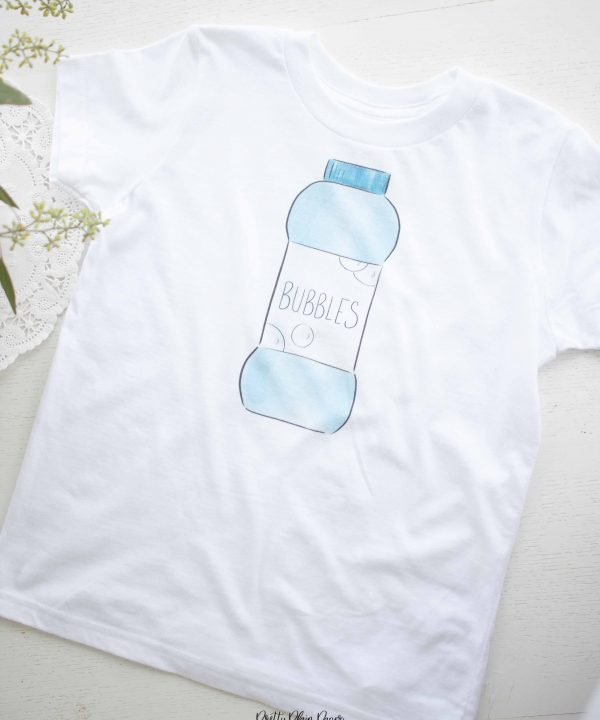 Bubble Birthday Party T-Shirt by Pretty Plain Paper
