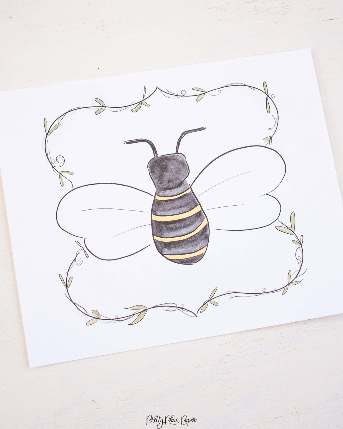 Bee & Honey Birthday Party Printable Backdrop by Pretty Plain Paper