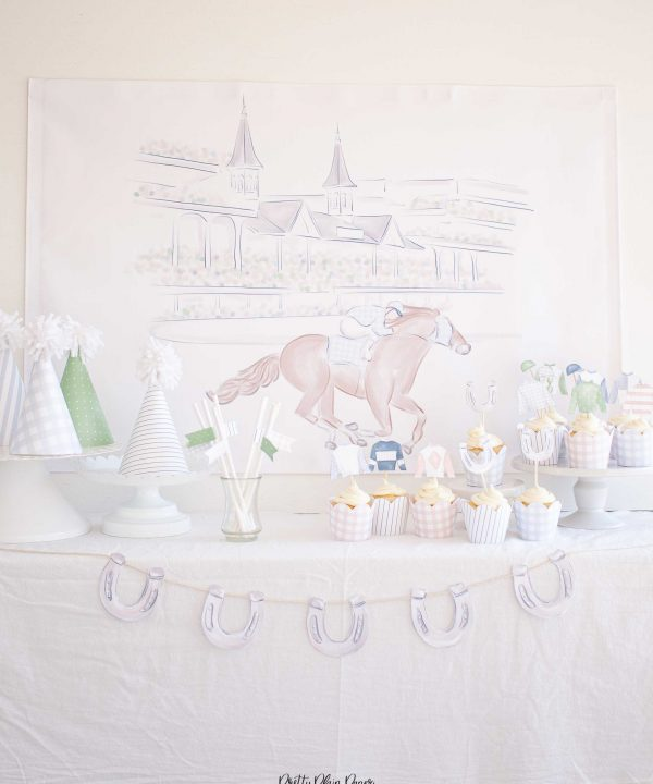 Kentucky Derby Party Backdrop Printable Party Set by Pretty Plain Paper