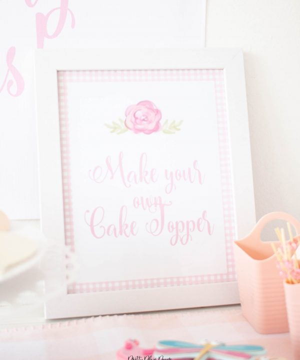 Cake Decorating Party Sign Party Printables by Pretty Plain Paper