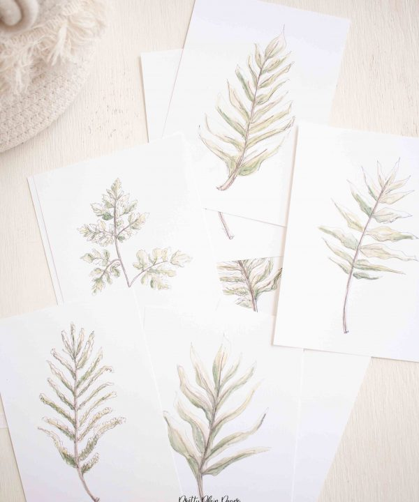 Watercolor Botanical Fern Print Set by Pretty Plain Paper Prinable Download