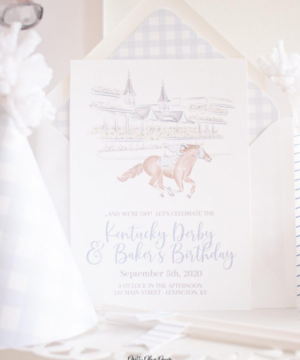 Churchill Downs Kentucky Derby Party Invitation Printable by Pretty Plain Paper