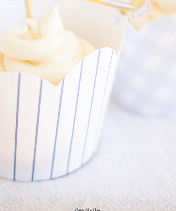 Blue Pattern Cupcake Wrappers by Pretty Plain Paper