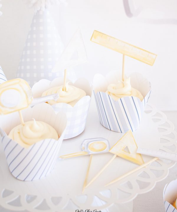 Measuring Tools Cupcake Toppers Printable by Pretty Plain Paper