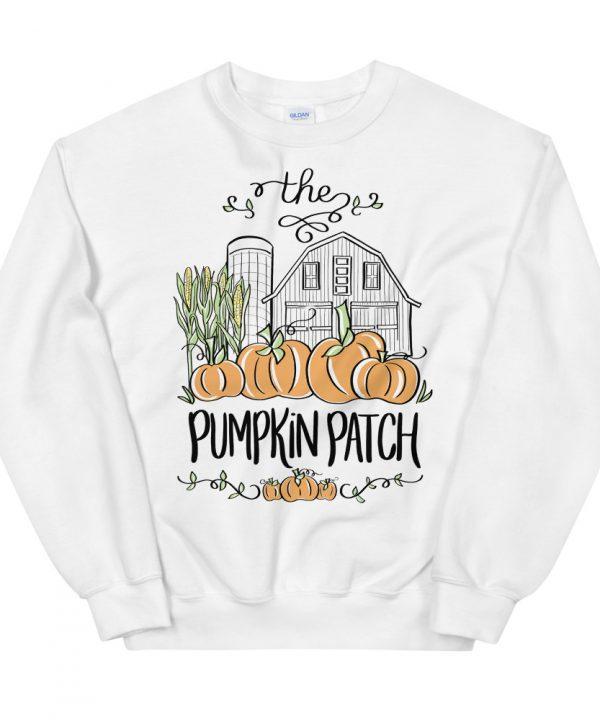 Hand Drawn Watercolor Pumpkin Patch Sweatshirt, T-shirt by Pretty Plain Paper